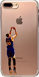 Soft TPU Basketball Case with Your Favorite Past and Present Players (Curry Back Jumper, iPhone 7 Plus)