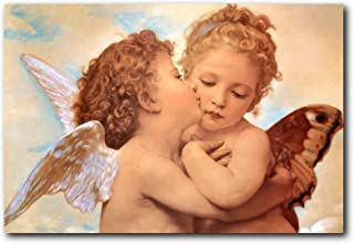 Wall Decor William-Adolphe Bouguereau The First Kiss Religious Art Print Poster (16x20)