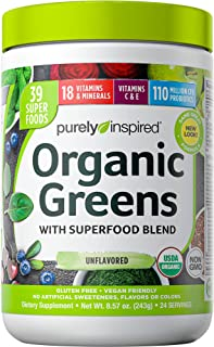 Greens Powder Smoothie Mix   Purely Inspired Organic Greens Powder Superfood   Super..