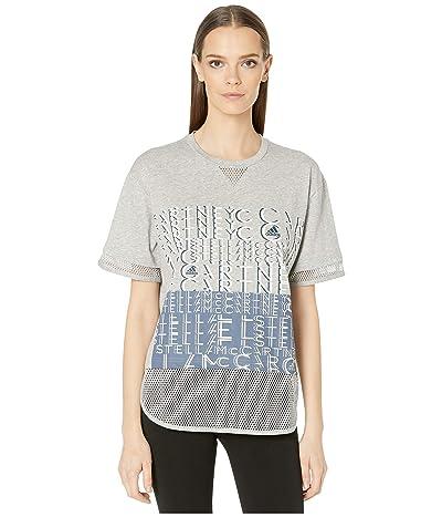 adidas by Stella McCartney Logo Tee EA2606 (Medium Grey Heather) Women