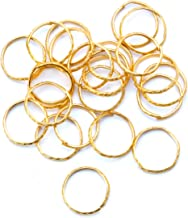 Darice Victoria Lynn Mini Wedding Rings - Gold & Aluminum - 3/4 inches - 24 Pieces