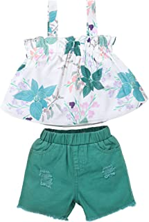 Toddler Kids Baby Girl Clothes Ruffle Sleeveless Floral...