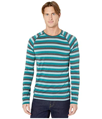 Smartwool Merino 150 Baselayer Long Sleeve (Pacific Stripe) Men