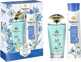Yardley English Bluebell perfumed gift set, feminine fresh, fruity floral fragrance, Jasmine, Lilly, Vanilla and Musk, Eau...