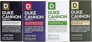Duke Cannon Supply Co. - Big American Brick of Soap Variety Gift Set (4 Pack of 10 oz) Superior Grade Bar Soap Bundle Desi...