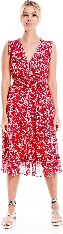 Max Studio Women's Sleeveless Ruffled Dress