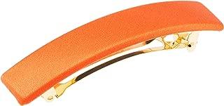 L. Erickson USA Rectangle Barrette - Orange