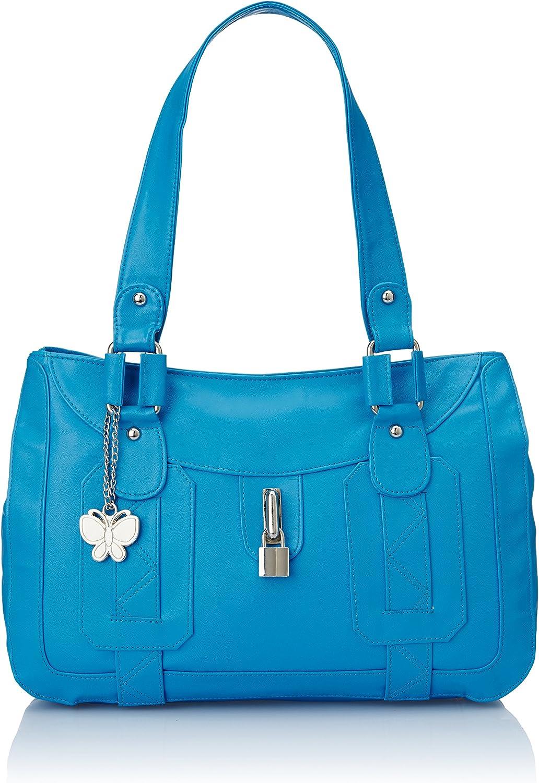Butterflies Women's Shoulder Bag 10H x 15L x 3W Green