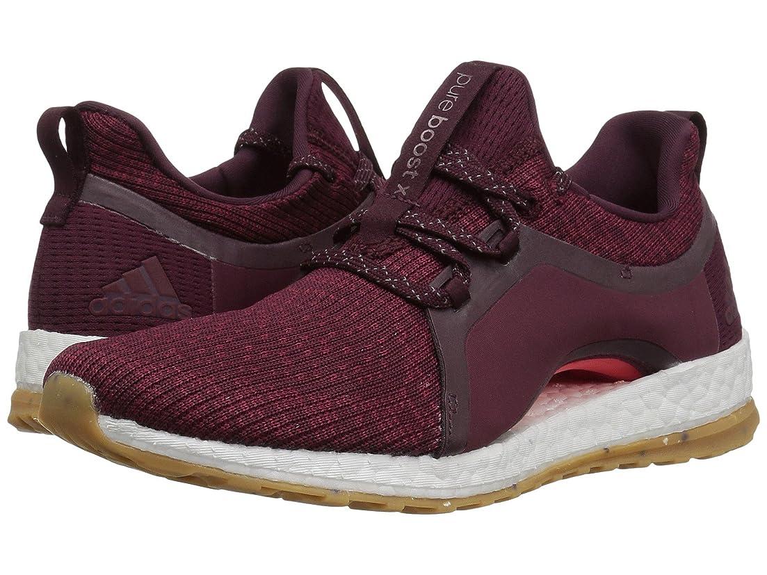 セクション耐えられない哲学(アディダス) adidas レディースランニングシューズ?スニーカー?靴 Pureboost X ATR Red Night/Mystery Ruby/Easy Coral 6 (23cm) B - Medium