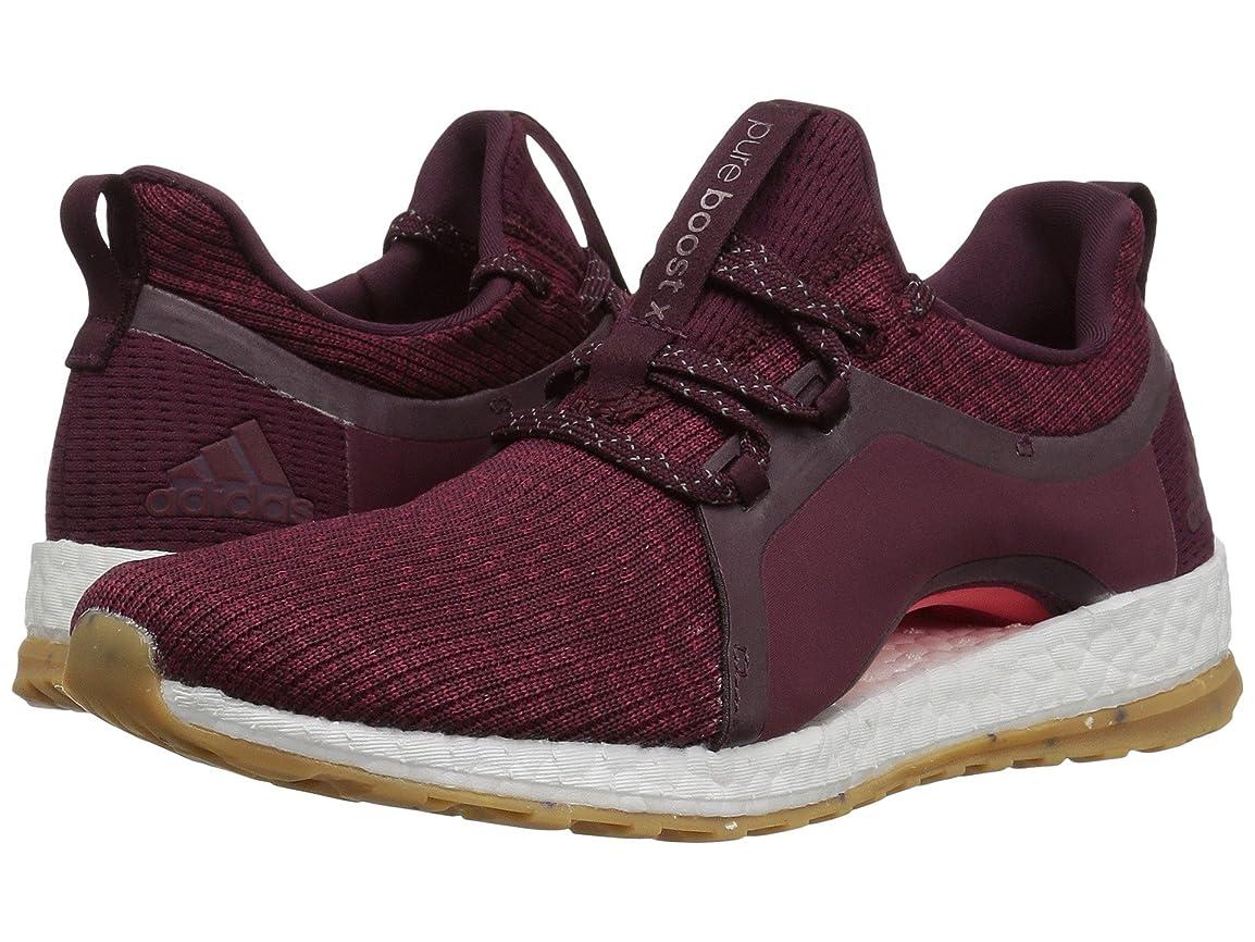 探偵未知のウォーターフロント(アディダス) adidas レディースランニングシューズ?スニーカー?靴 Pureboost X ATR Red Night/Mystery Ruby/Easy Coral 9 (26cm) B - Medium