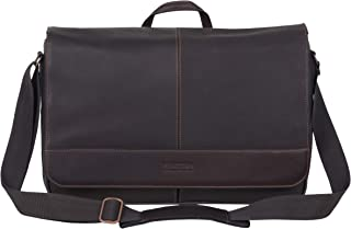 "Kenneth Cole Reaction Come Bag Soon Leather 15.6"" Messenger Laptop Messenger Bag"
