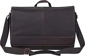 Kenneth Cole Reaction Manhattan Colombian Leather Laptop/Tablet RFID Flapover Travel Messenger Bag
