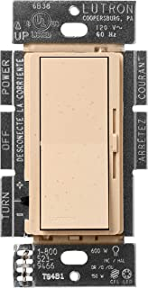 Lutron Diva C.L Dimmer for Dimmable LED, Halogen and Incandescent Bulbs, Single-Pole or 3-Way, DVSCCL-153P-DS, Desert Stone