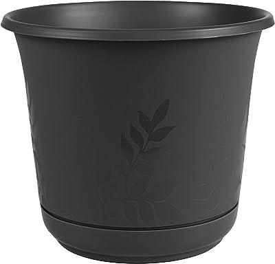 "Bloem FP1200 Series Water Planter, 12"", Black"