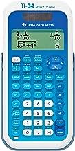 Texas Instruments, Inc TI34MV Scientific Calculator,4-Line,Dual Pwr,3-1/5-Inch x6-1/10-Inch x3/4-Inch,BE