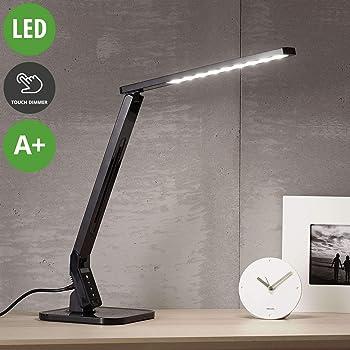 Lampe de bureau, moderne, plastique noir montre
