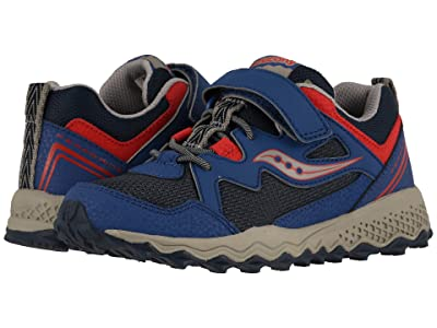 Saucony Kids Peregrine Shield 2 A/C (Little Kid/Big Kid) (Navy/Red) Boys Shoes