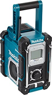 Makita DMR108 Site Radio with Bluetooth and Mobile USB Charging Sock - Blue (4-Piece)