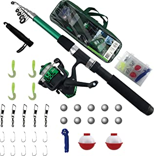 tz Outdoors- Fishing Kit for Beginners and Kids (7 Years & Older)- Fishing Accessories - Fishing Lures Set- Kid's Fishing Pole- Learners Kit- Fishing Rod & Reel-Adult & Kid's Outdoor Sport