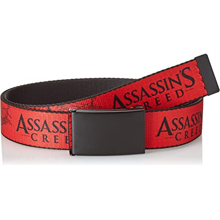Buckle Down Herren Web Belt Assassin S Creed 1 25 Gürtel Mehrfarbig 3 Cm Breit 107 Cm Hosengröße Bekleidung