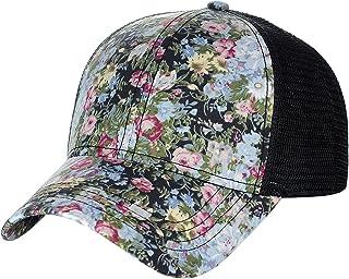 3e5f813ddee C.C Women s Floral Pattern Adjustable Mesh Trucker Baseball Cap Hat