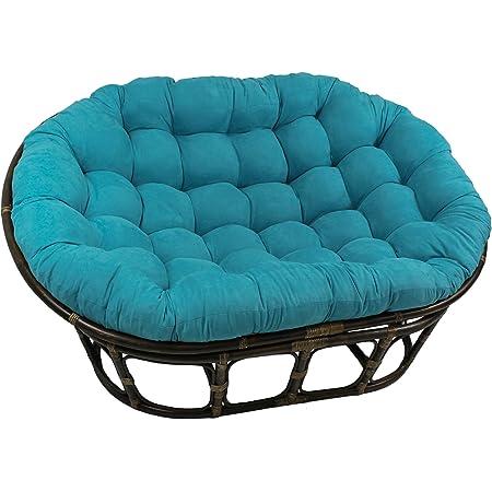 Blazing Needles Solid Twill Papasan Chair Cushion 44 x 6 x 44 Renewed Sage