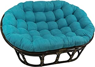 Blazing Needles Solid Microsuede Double Papasan Chair Cushion, 48