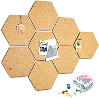 HENMI - 8 tablones de corcho autoadhesivos para DIY, uso