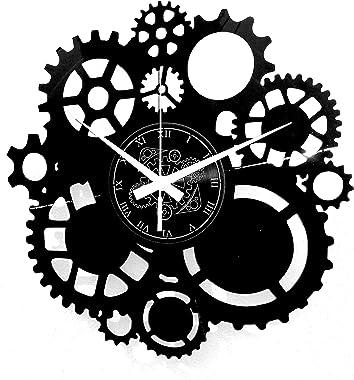 Instant Karma Clocks Horloge Murale en Vinyle, Engrenages, Gothic Steampunk, Idée Cadeau 31