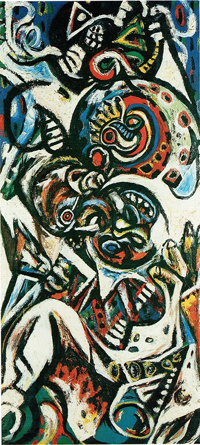 Black Creations Naixemant Jackson Pollock 193841 Poster Canvas Picture Art Print Premium Quality A0 A1 A2 A3 A4 (A0 Canvas (30 40))