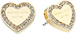 Michael Kors Crystal Heart Studs Earrings