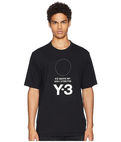 adidas Y-3 by Yohji Yamamoto Stacked Logo Short Sleeve Tee