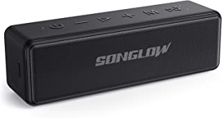 SONGLOW Bluetooth Lautsprecher Tragbare: 30W Individueller EQ Lautsprecher Boxen Bluetooth 5.0 & Enormer Stereo Dualen Paarung Tiefer Bass & IPX7 Wasserschutz & 12 Stunden Akku