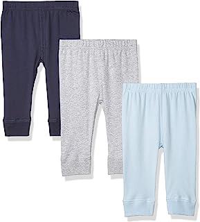 Luvable Friends Unisex Baby Cotton Pants, Blue Gray, 3 Toddler