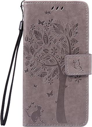 Anlike Huawei P9 Lite / P9 mini (5,2 Zoll) H�lle, Katzen Baum Muster PU Leder Flip-Case / Brieftasche / Wallet Etui /Lederh�lle / Handy Schutzh�lle / Bookstyle Cover / Handy Zubeh�r / Lederh�lle / Han