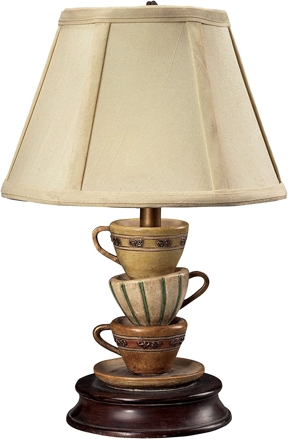 Sterling 93-10013 Composite Stacked Tea Cups Accent Table Lamp, 8 by 13-Inch