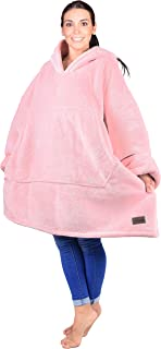 Catalonia Oversized Hoodie Blanket Sweatshirt,Super Soft Warm Comfortable Sherpa Giant Pullover with Large Front Pocket,for Adults Men Women Teenages Kids,Pink