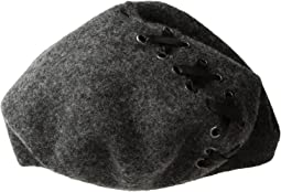 Steve Madden - Laced-Up Ribbon Wool Beret