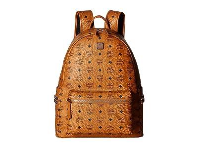 MCM Stark Side Stud Medium Backpack (Cognac) Backpack Bags