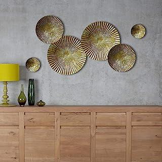 Craftter metal figures Wall Sculpture Art, Gold, Large = 16, Medium=11.5, Small=6 (inch)