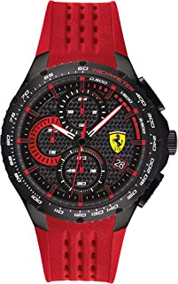 Scuderia Ferrari Men's Black Dial Red Silicone Watch - 830727