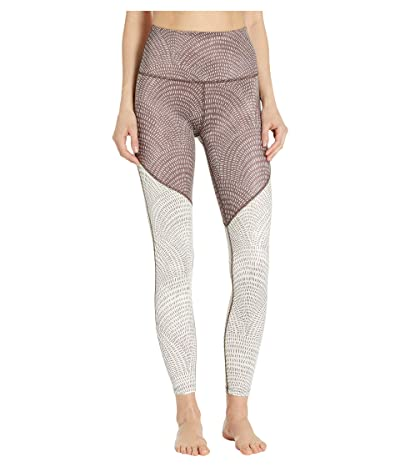 Beyond Yoga Lux High-Waisted Angled Midi Leggings (Etched Fans Blocked) Women