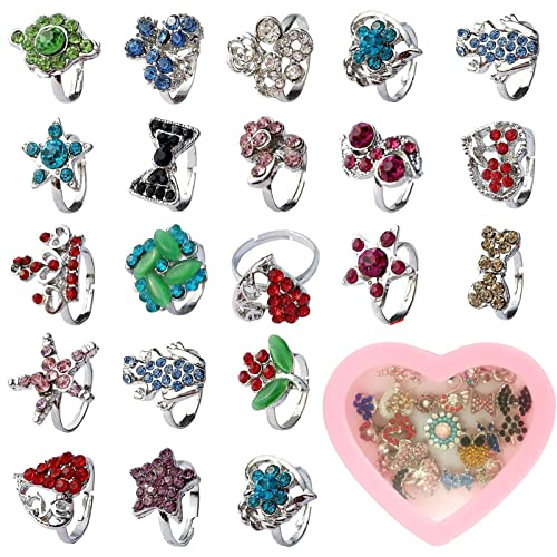 20Pcs Lots Mixed Plastic Children Kids Boys Finger Rings Party Favors Gifts