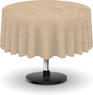 Firefly Craft Rustic Burlap Round Table Cloth, 60 Inches by 60 Inches, Set of 1