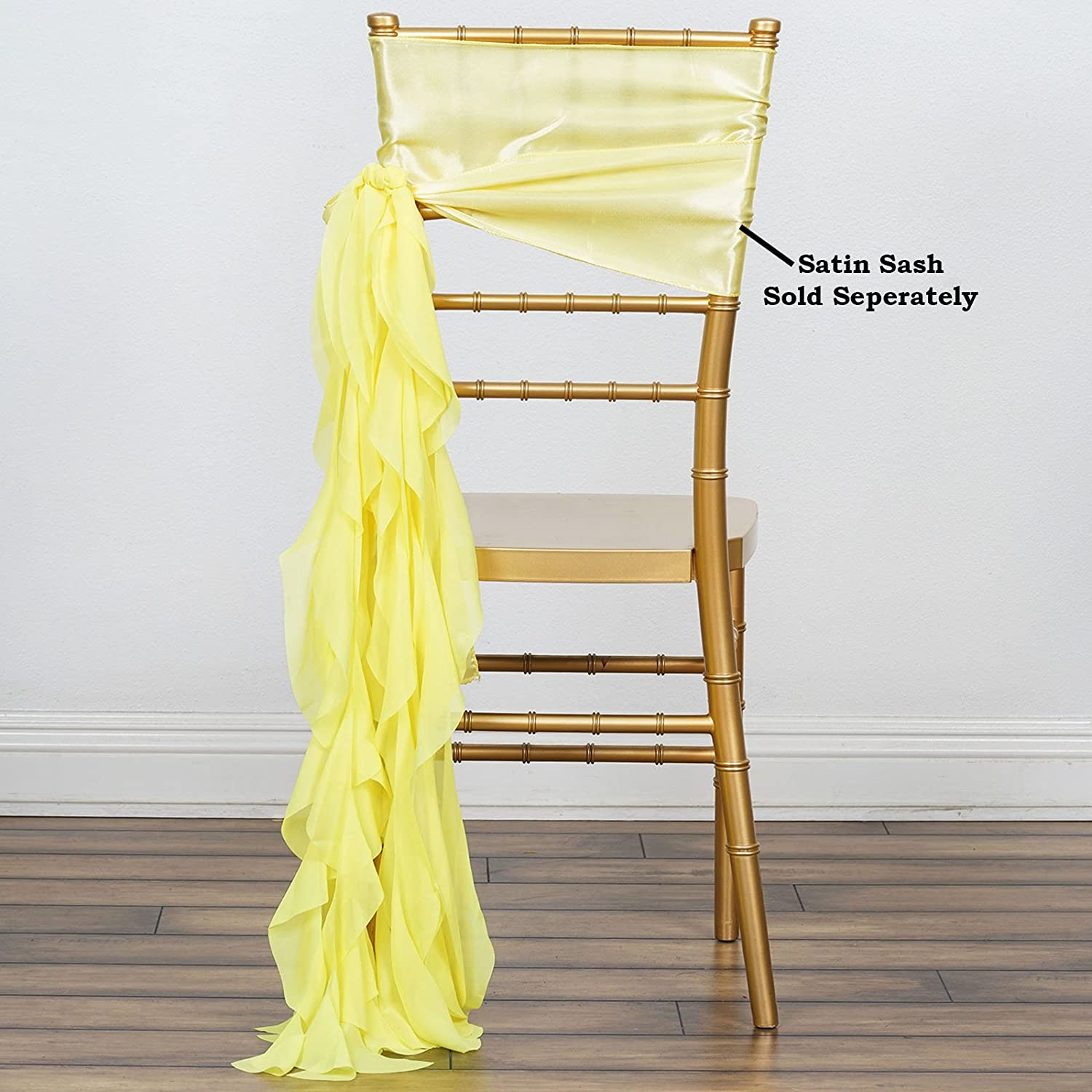 for Cash special price 10 pcs Chiffon Curly Chair Party Wedding supreme Sashes Dec Ceremony