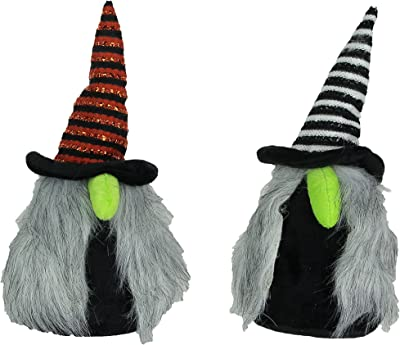 Things2Die4 Pair of Whimsical Plush Halloween Witch Nisse Gnome Figures