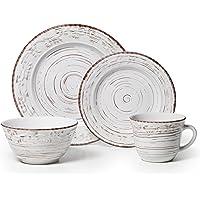 Pfaltzgraff 5217179 Trellis White 16-Piece Service for 4 Dinnerware Set