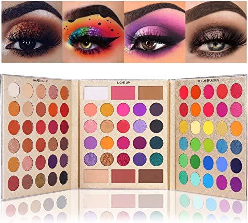 UCANBE Pretty All Set Eyeshadow Palette Holiday Gift Set Pro 86 Colors Makeup Kit Matte Shimmer Eye Shadow Highlighte...