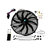 ECCPP 16Inch Push Pull Electric Radiator Cooling Fan Assembly Kit Mounting Set Replacement fit for 1997-2018 Ford F-350 F-450 F-550 Super Duty