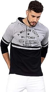 Maniac Men's Slim Fit Hooded T-Shirt
